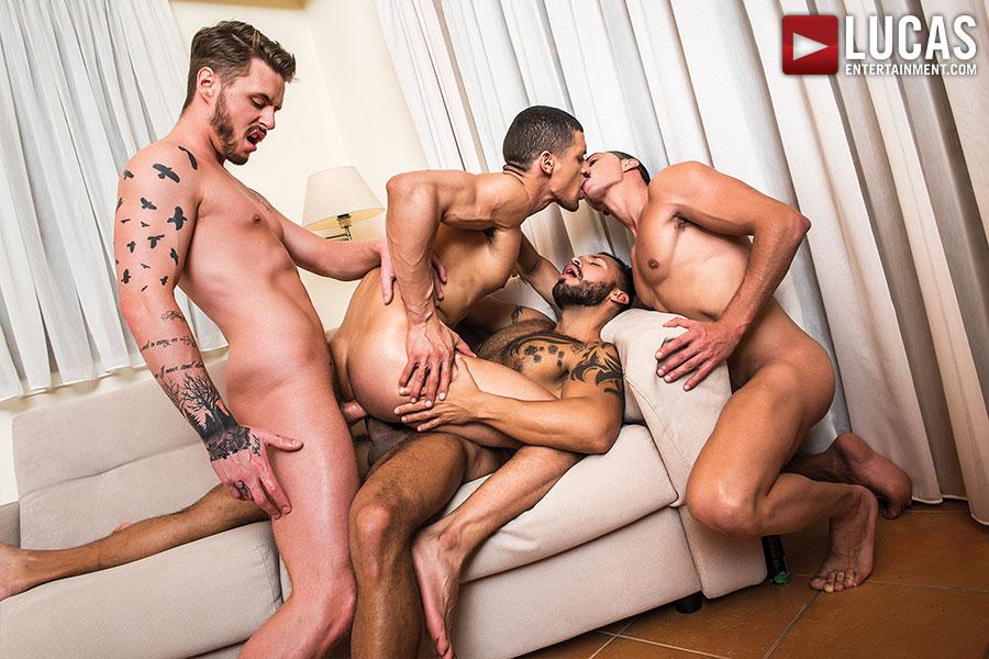 Ibrahim Moreno Takes On Three Uncut Cocks - Gay Movies - Lucas Entertainment