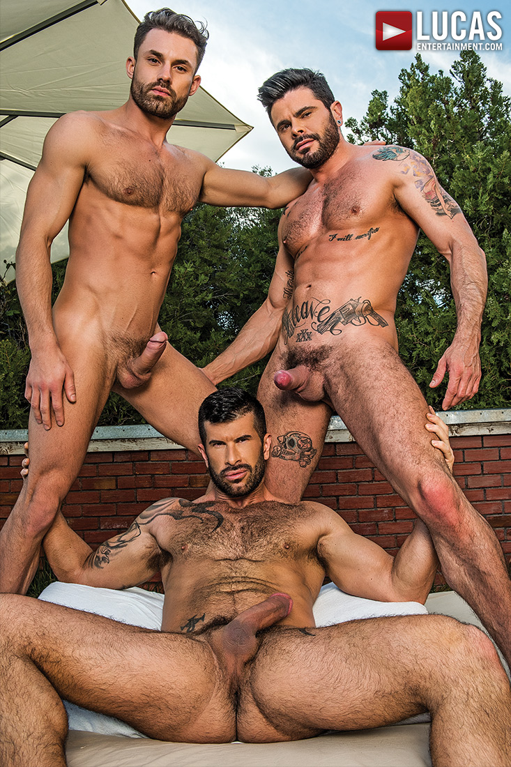 James Castle, Adam Killian, Mario Domenech | Raw Threesome - Gay Movies - Lucas Entertainment