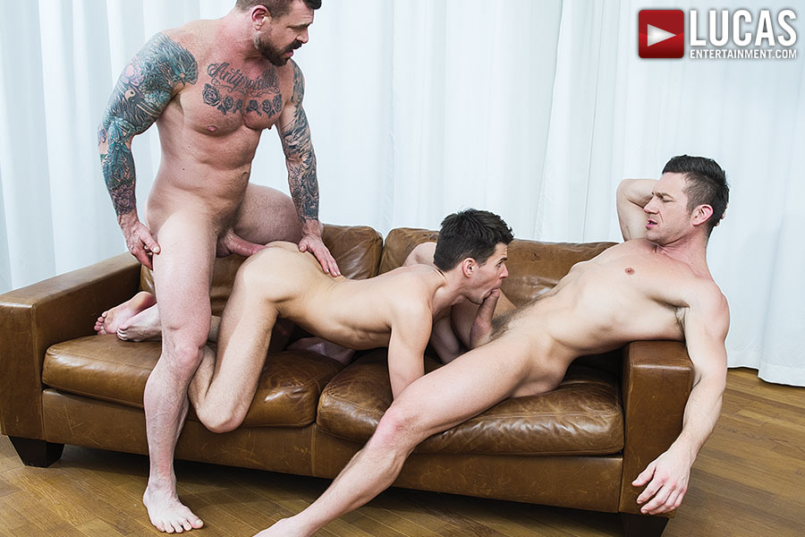 Rocco Steele And Tomas Brand Sodomize Dmitry Osten With Their Hung Uncut Cocks - Gay Movies - Lucas Entertainment