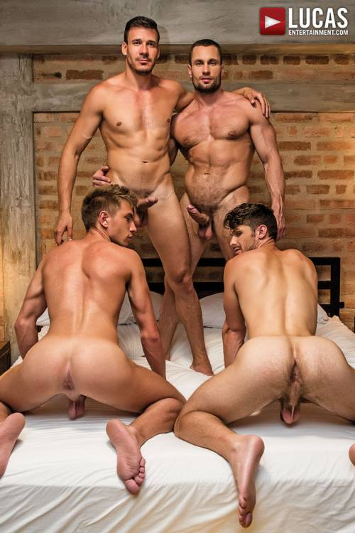 Devin Franco And Bogdan Gromov Bottom For Stas Landon And Roman Berman - Gay Movies - Lucas Entertainment