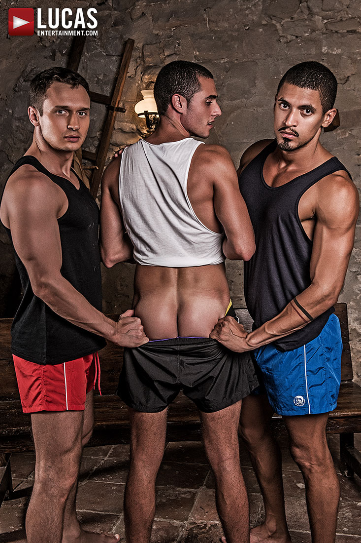 Ibrahim Moreno, Alex Kof, And Javi Velaro's Uncut Flip-Fucking - Gay Movies - Lucas Entertainment
