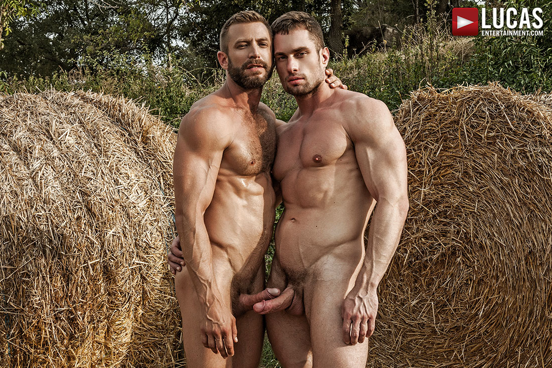 Bulrog Breeds Stas Landon Behind The Hay Bales - Gay Movies - Lucas Entertainment