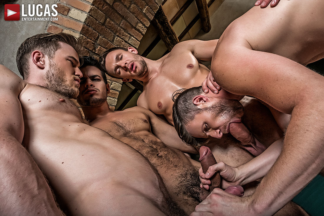 Brian Bonds' Bareback Gang Bang - Gay Movies - Lucas Entertainment