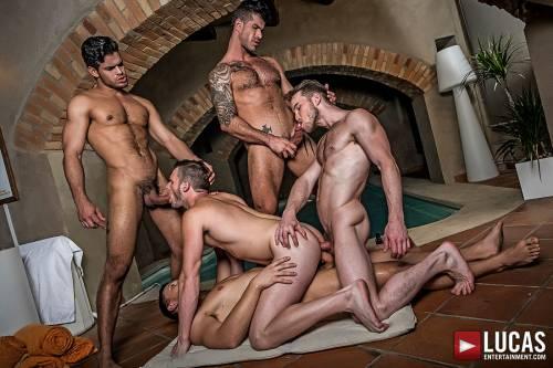 Brian Bonds' Bareback Gang Bang - Gay Movies - Lucas Entertainment