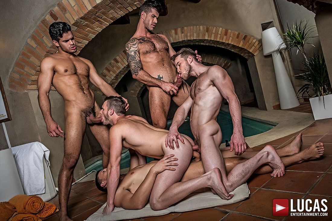 Orgy gangbang group sex tag team
