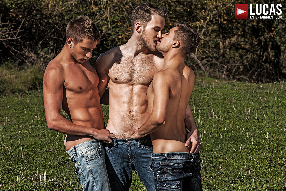 Marq Daniels And Bogdan Gromov Double-Team Klim Gromov - Gay Movies - Lucas Entertainment