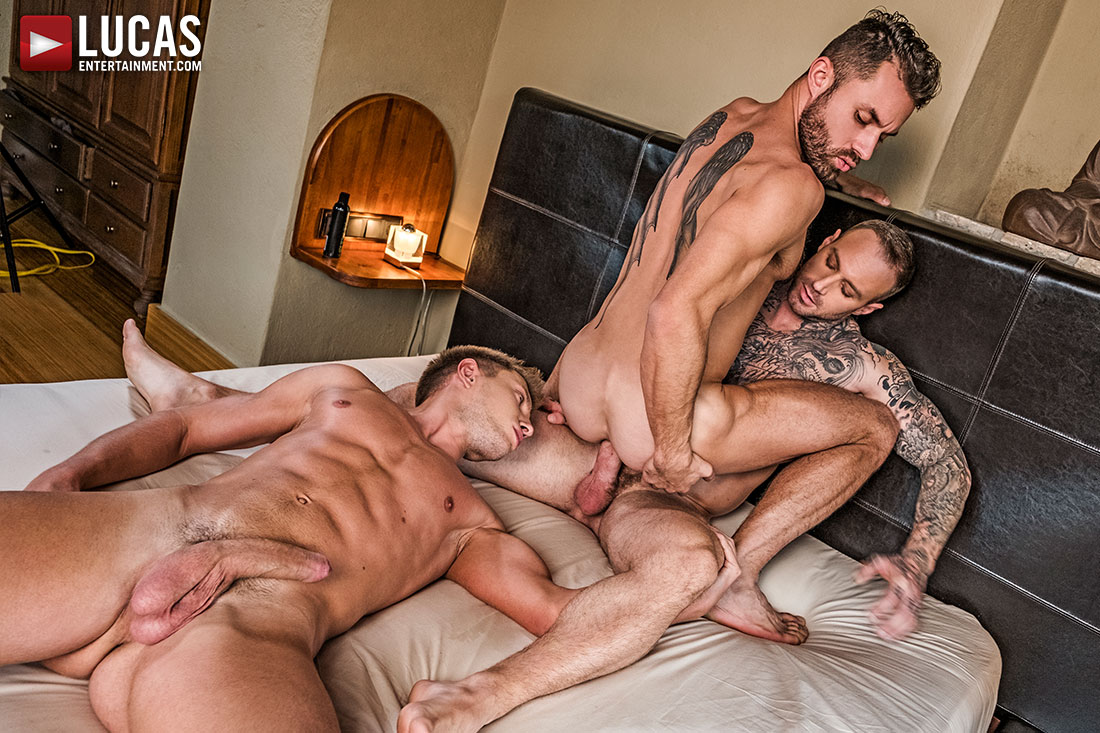 James Castle and Dylan James Own Bogdan Gromov's Ass - Gay Movies - Lucas Entertainment