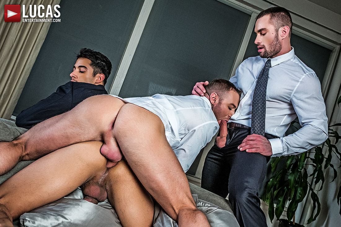 Drae Axtell's Corporate Threesome With Dylan James And Stas Landon - Gay Movies - Lucas Entertainment
