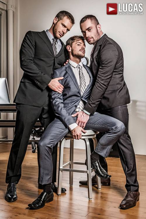 Stas Landon And Jack Andy Double Penetrate Brian Bonds After Hours - Gay Movies - Lucas Entertainment