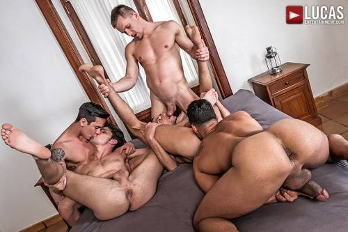 Devin Franco, Andrey Vic, Javi Velaro, Drae Axtell, Angel Cruz | Raw Double-Penetration - Gay Movies - Lucas Entertainment