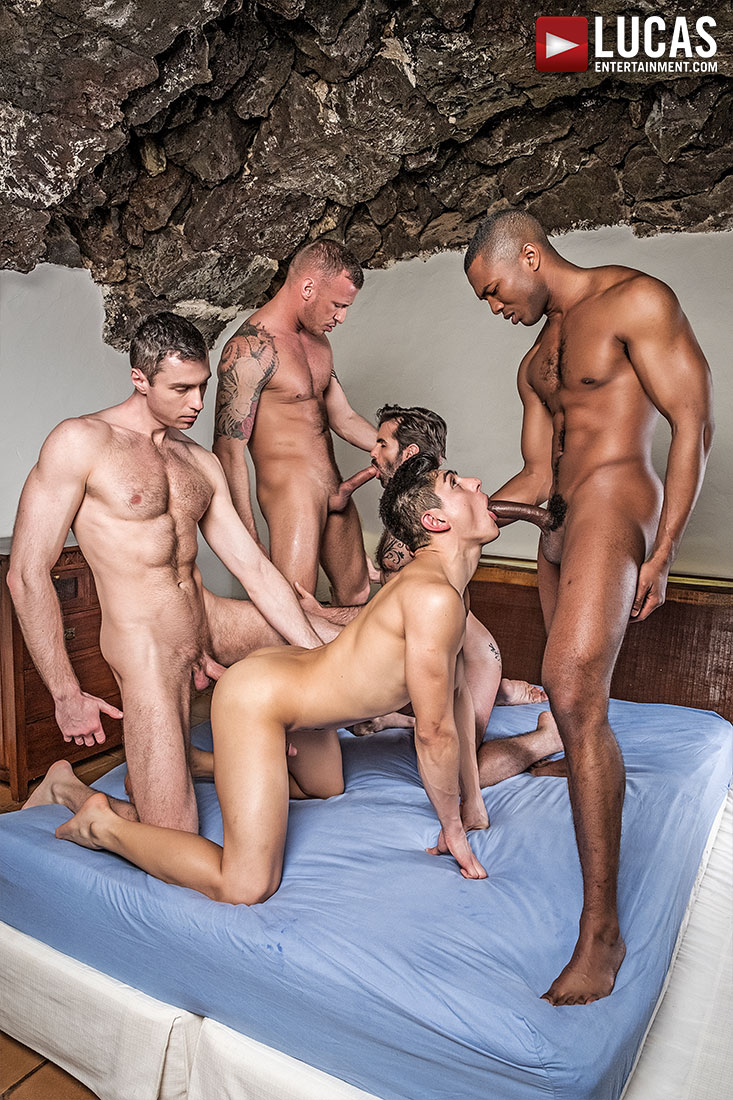 Ken Summers Leads a Five-Man Double Penetration Orgy - Gay Movies - Lucas Entertainment