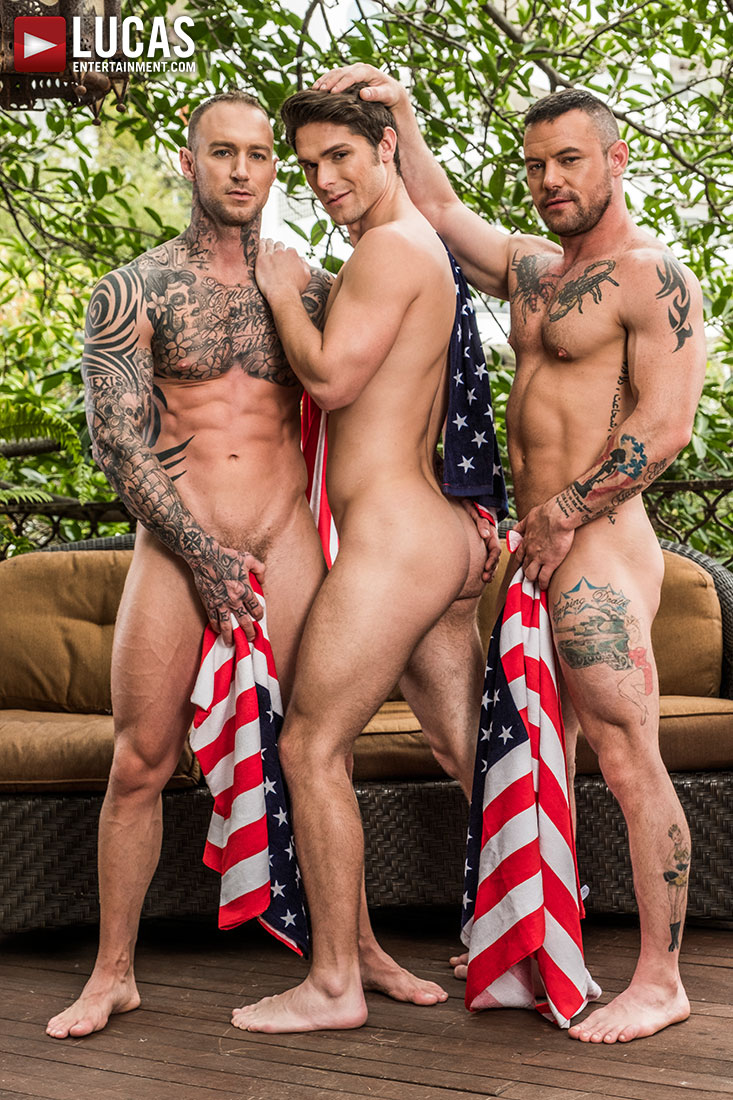 Sergeant Miles And Dylan James Double-Team Devin Franco - Gay Movies - Lucas Entertainment