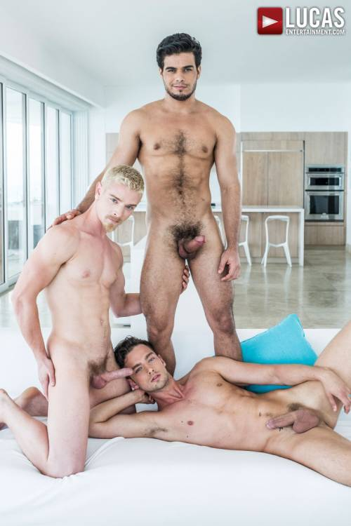 Rico Marlon, Damon Heart, Cody Winter | Bareback Double Penetration - Gay Movies - Lucas Entertainment