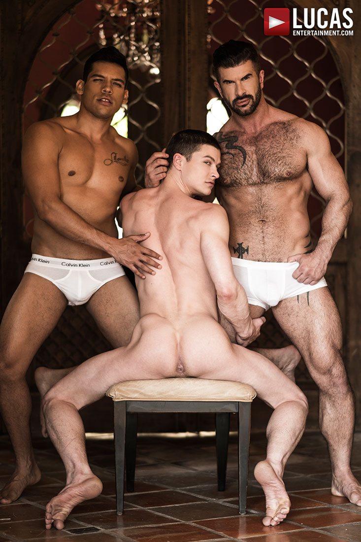 Alejandro Castillo And Adam Killian Take Turns Breeding Ruslan Angelo - Gay Movies - Lucas Entertainment