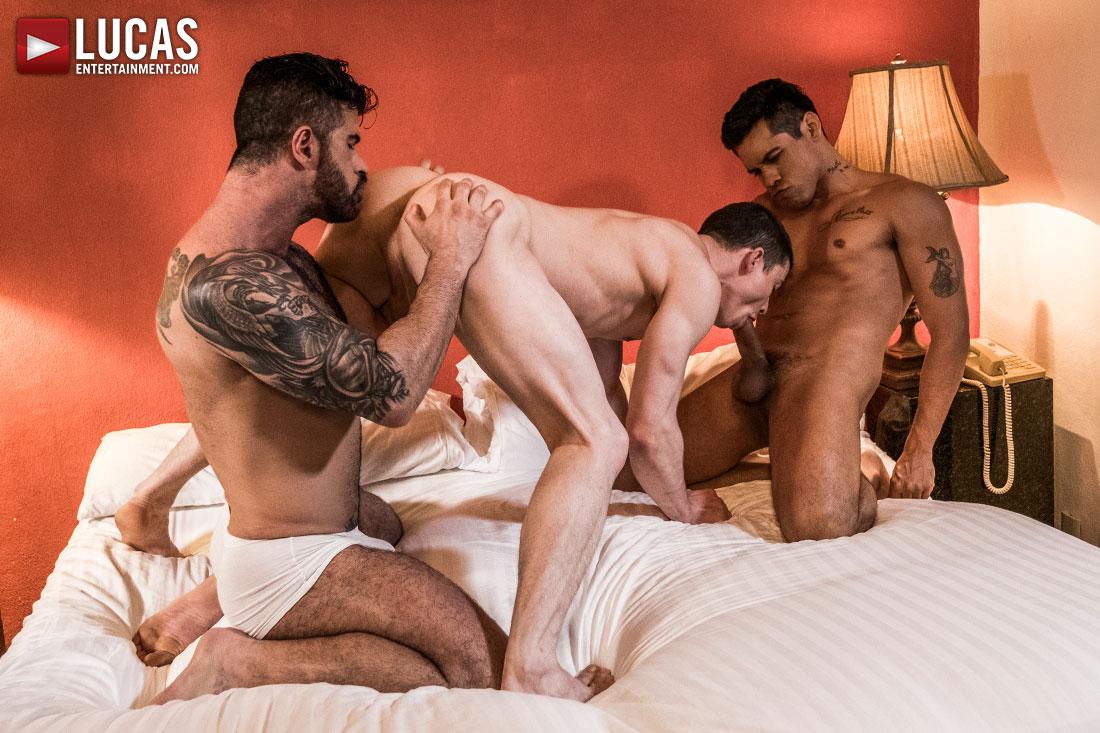 Alejandro Castillo And Adam Killian Take Turns Breeding Ruslan Angelo - Gay Movies - Lucas Entertainment