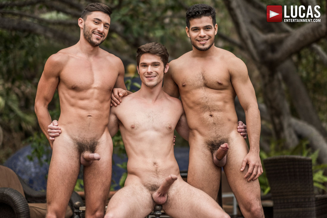 Devin Franco Rides Rico Marlon and Scott Demarco's Raw Cocks - Gay Movies - Lucas Entertainment