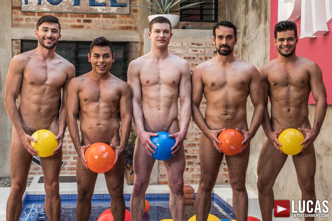Ruslan Angelo, Rico Marlon, Scott DeMarco, Sebastian Oliver, Daniel Azcona   Bare Tender Fuck-Fest - Gay Movies - Lucas Entertainment