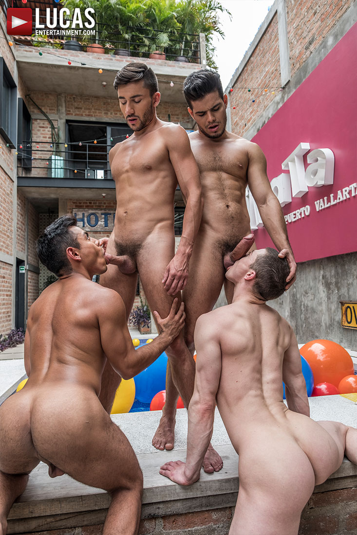 Ruslan Angelo, Rico Marlon, Scott DeMarco, Sebastian Oliver, Daniel Azcona | Bare Tender Fuck-Fest - Gay Movies - Lucas Entertainment
