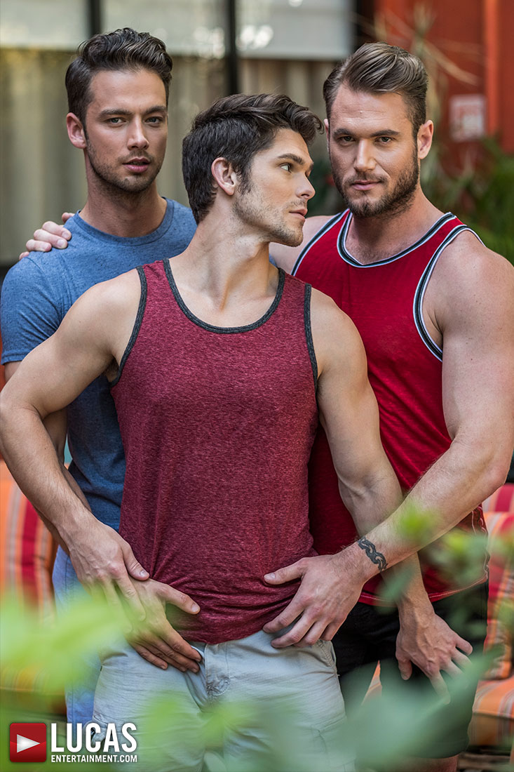 Ace Era, Devin Franco, And Damon Heart's Raw Threesome - Gay Movies - Lucas Entertainment