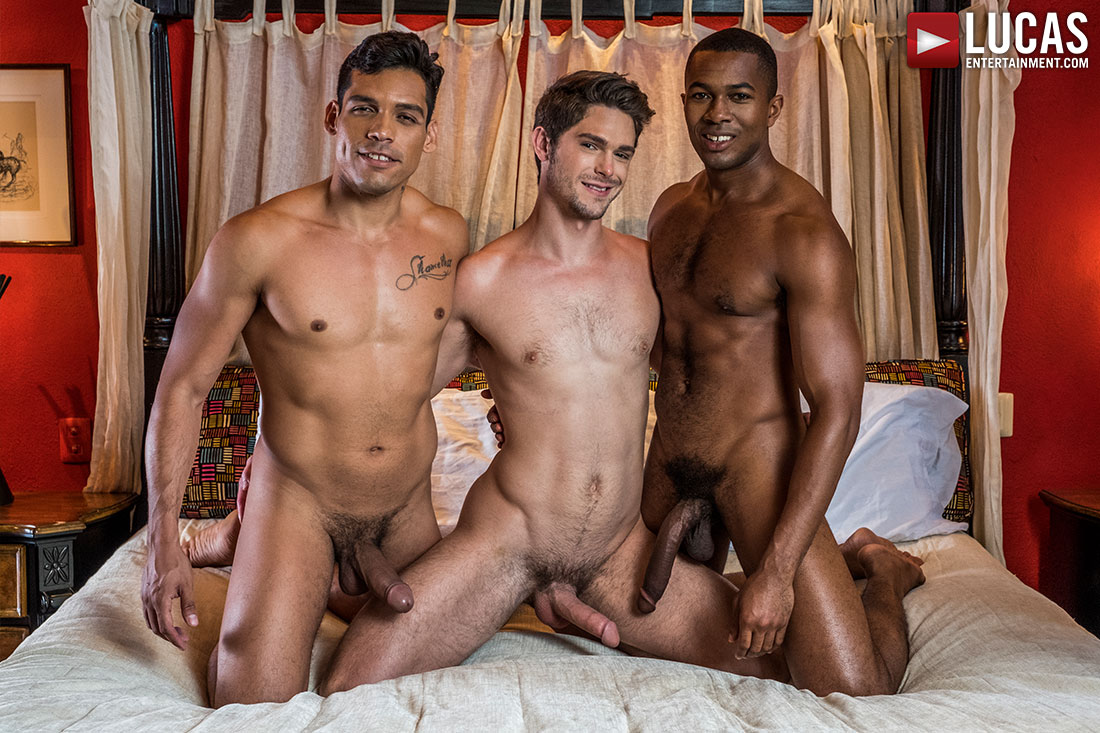 Sean Xavier And Alejandro Castillo Double-Team Devin Franco - Gay Movies - Lucas Entertainment
