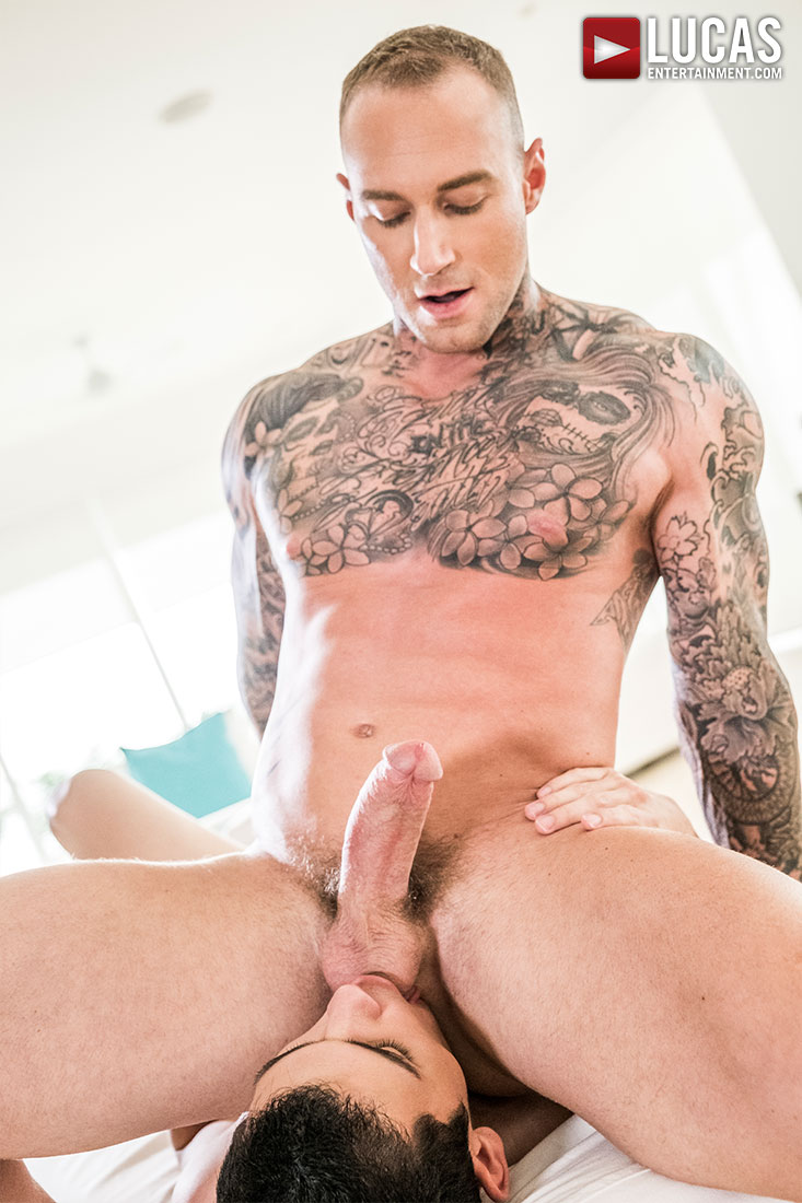 Dylan James Seeds Ricky Verez's Throat And Ass - Gay Movies - Lucas Entertainment