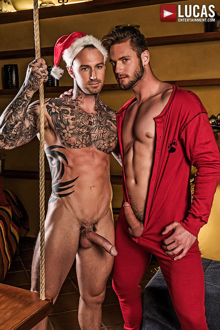 Dylan James, Ace Era | Bareback Christmas - Gay Movies - Lucas Entertainment