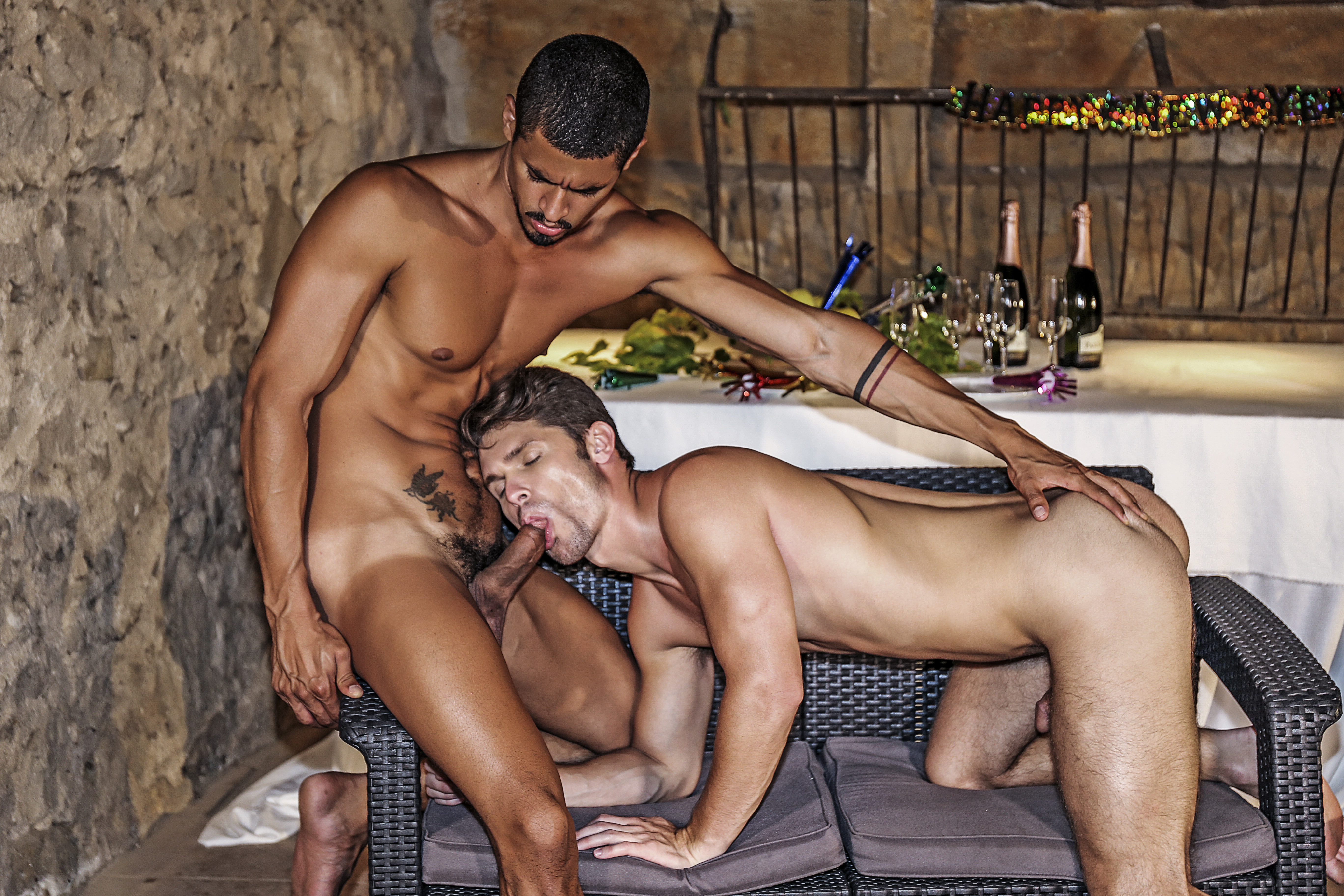 Devin Franco, Ibrahim Moreno | New Year's Eve Gone Raw - Gay Movies - Lucas Entertainment