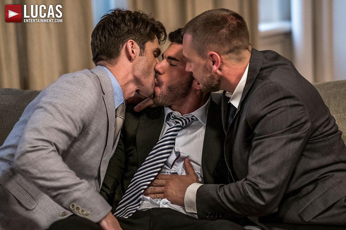 Hans Berlin And Billy Santoro Fuck Devin Franco - Gay Movies - Lucas Entertainment