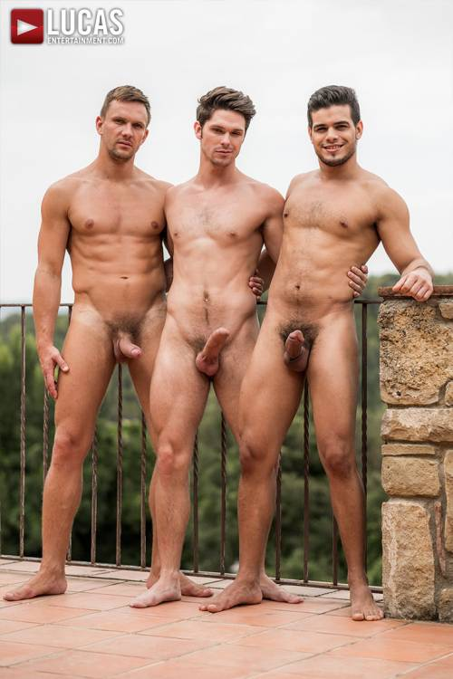 Devin Franco Takes Double The Cock from Andrey Vic And Rico Marlon - Gay Movies - Lucas Entertainment