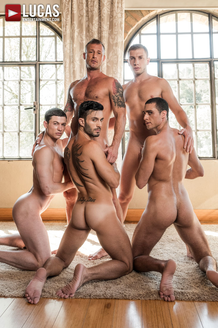 Ruslan Angelo's Five-Man Bareback Orgy - Gay Movies - Lucas Entertainment