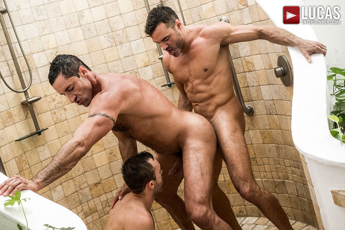 Manuel Skye And Nick Capra Double-Team Jackson Radiz Bareback - Gay Movies - Lucas Entertainment