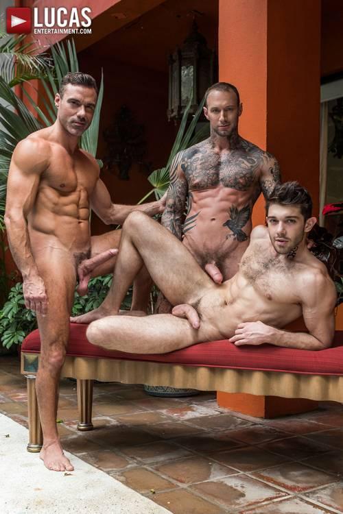 Dylan James And Manuel Skye Double-Team Ben Batemen - Gay Movies - Lucas Entertainment