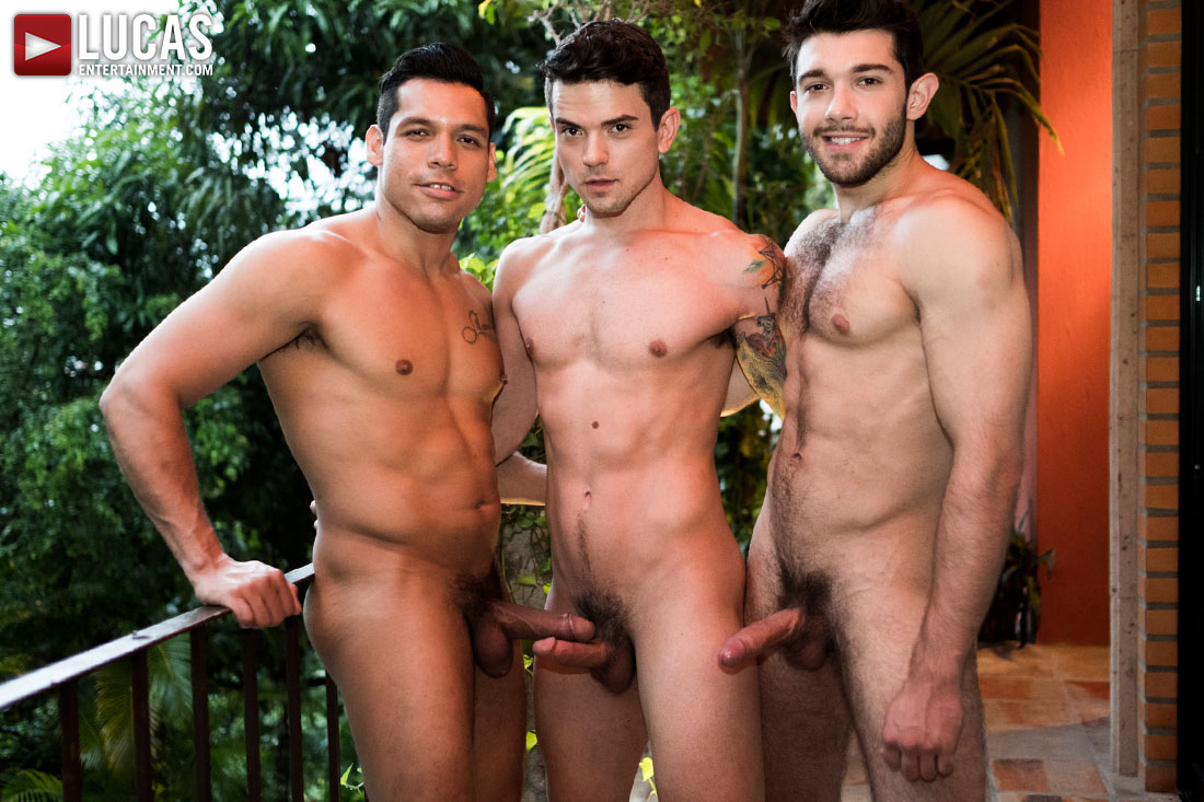 Ben Batemen And Alejandro Castillo Double Penetrate Dakota Payne - Gay Movies - Lucas Entertainment