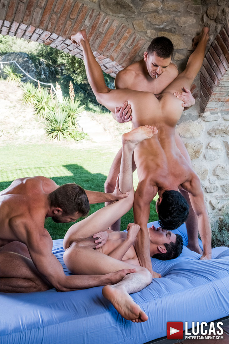 Andrey, Bulrog, Ricky, Ken | Four-Way Fag Breeding - Gay Movies - Lucas Entertainment
