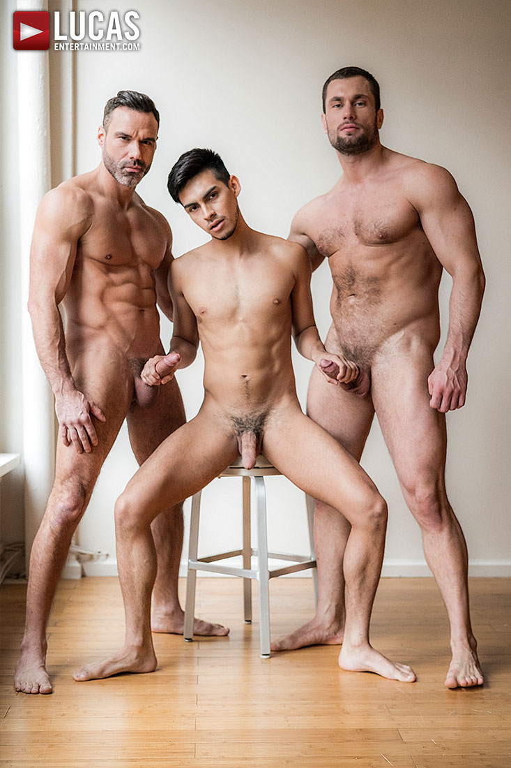 Manuel Skye And Stas Landon Share Aaron Perez's Ass - Gay Movies - Lucas Entertainment