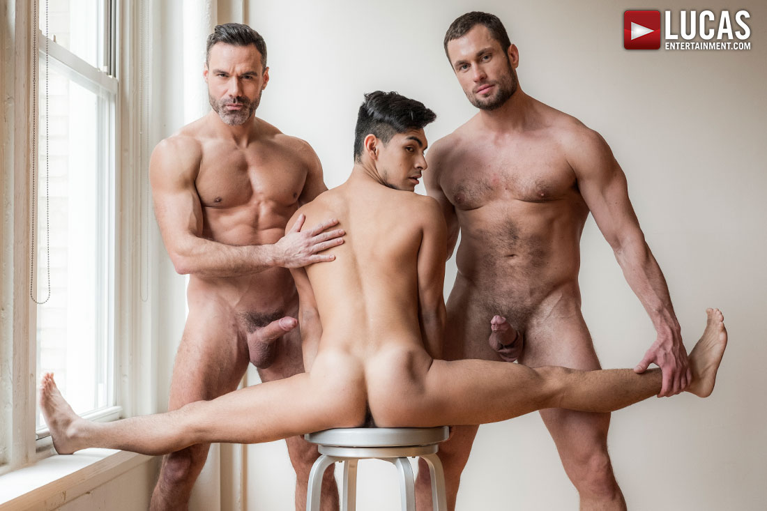 Manuel Skye And Stas Landon Share Aaron Perez's Ass - Gay Movies - Lucas Entertainment