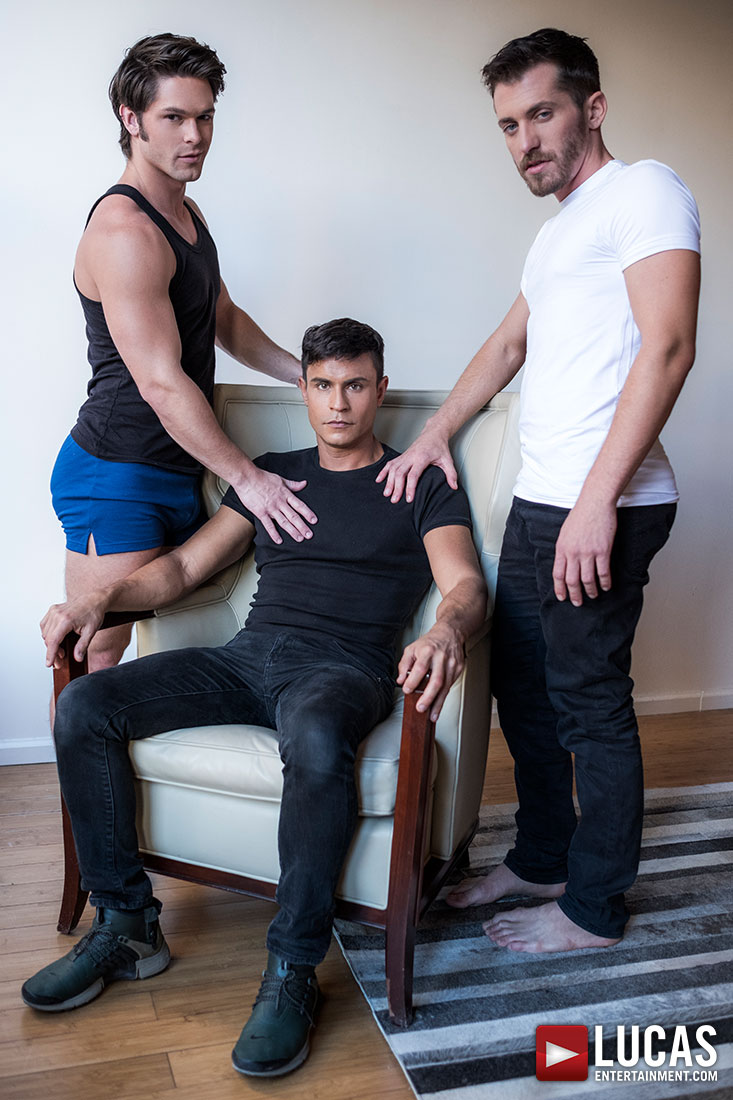 Rafael Carreras And Devin Franco Double Penetrate Shawn Andrews - Gay Movies - Lucas Entertainment