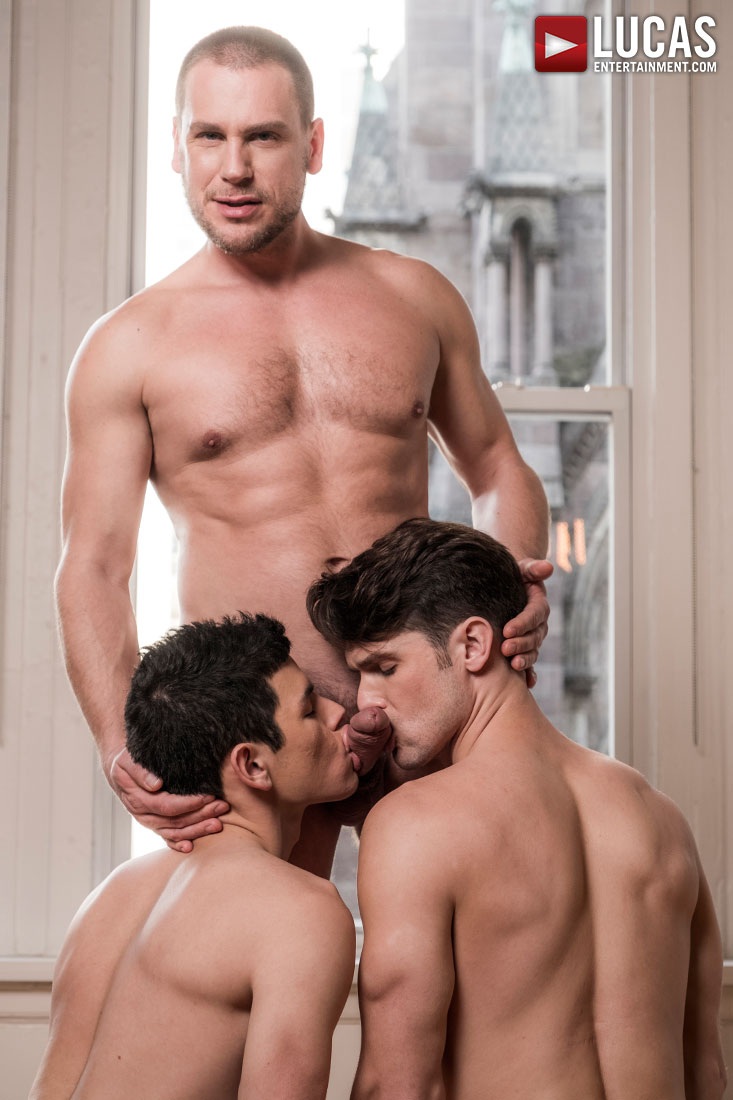 Hans Berlin Enjoys Double Boy-Hole From Devin Franco And Ricky Verez - Gay Movies - Lucas Entertainment