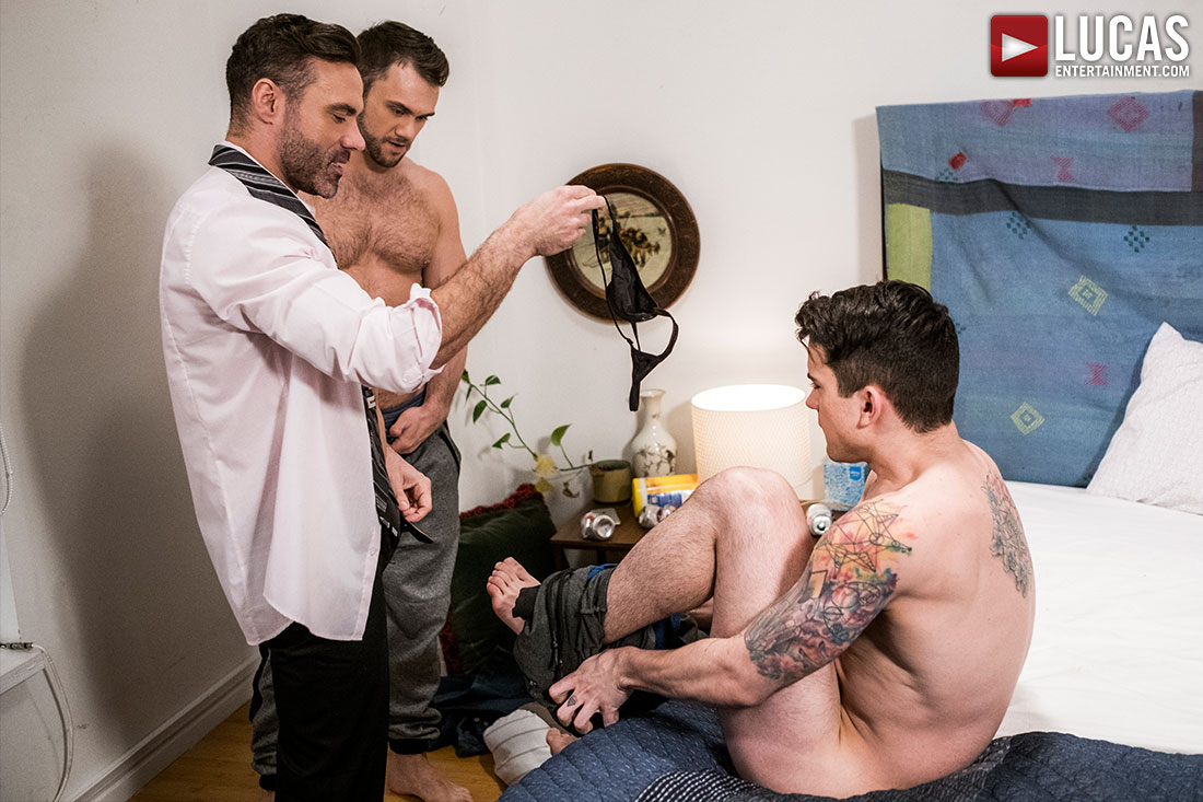 Dakota Payne Submits to Manuel Skye And Blaze Austin - Gay Movies - Lucas Entertainment