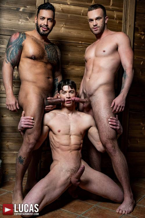Viktor Rom Drills Jackson Radiz And Ruslan Angelo - Gay Movies - Lucas Entertainment
