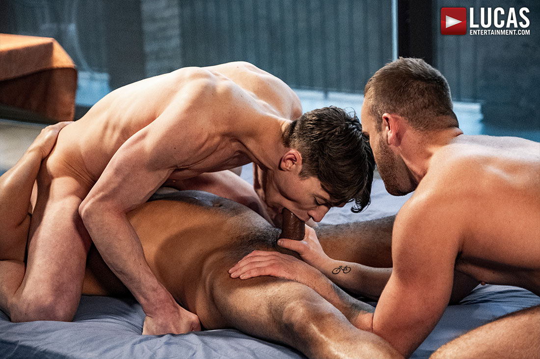 Viktor Rom Drills Jackson Radiz And Ruslan Angelo - Gay Movies - Lucas Entertainment