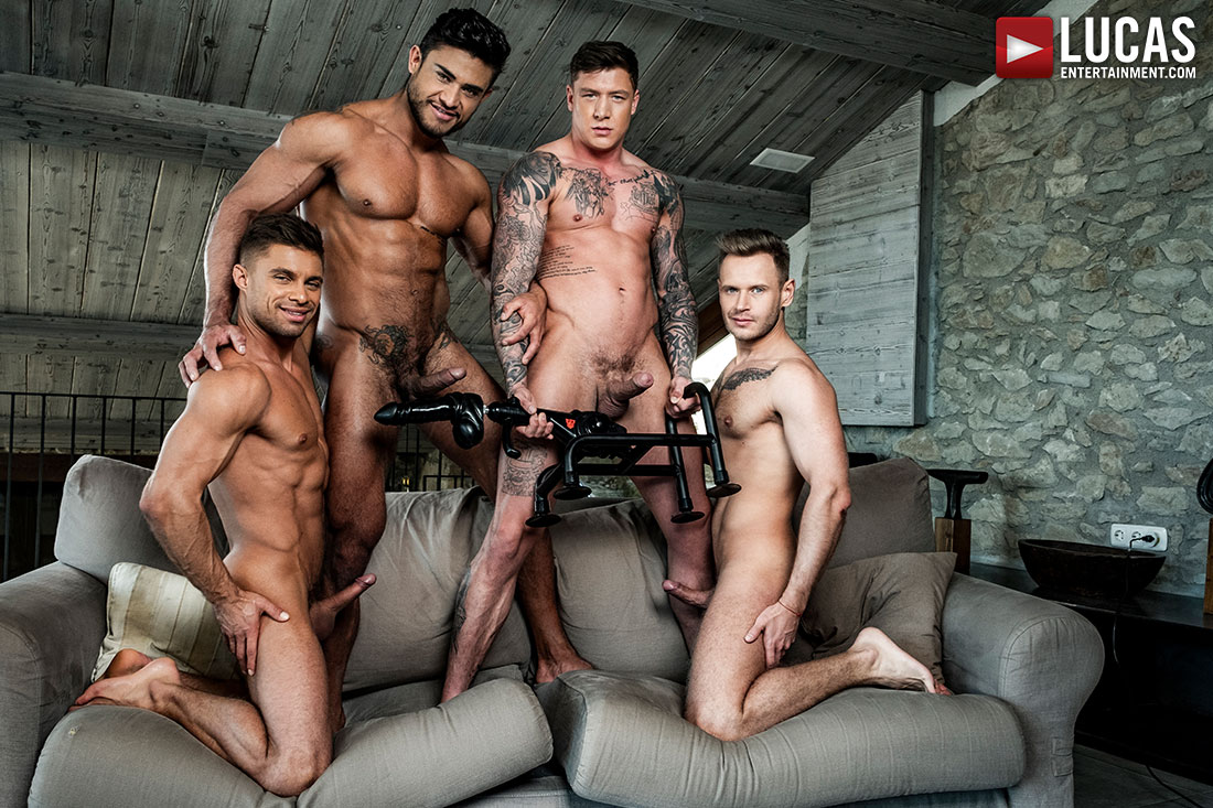 Diego And Geordie's Fuck-Machine Foursome - Gay Movies - Lucas Entertainment