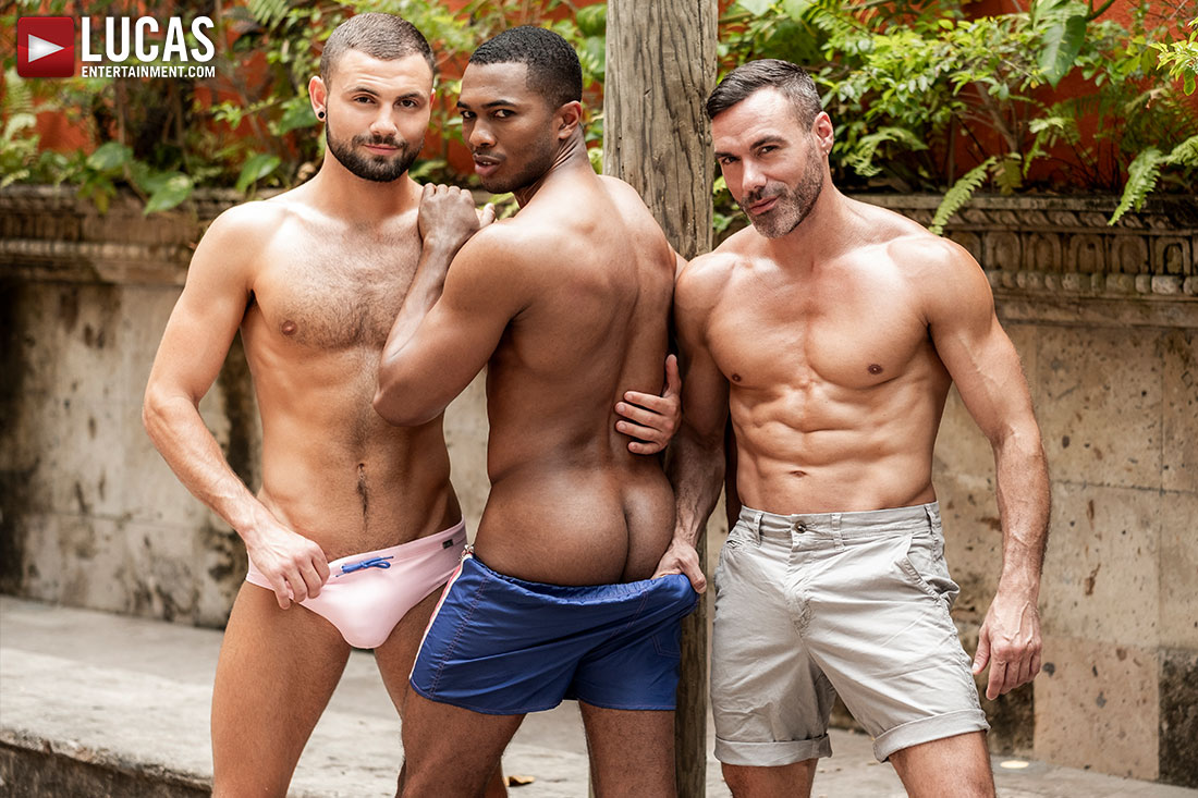 Manuel Skye, Jeffrey Lloyd, Sean Xavier | Sunset Sex - Gay Movies - Lucas Entertainment