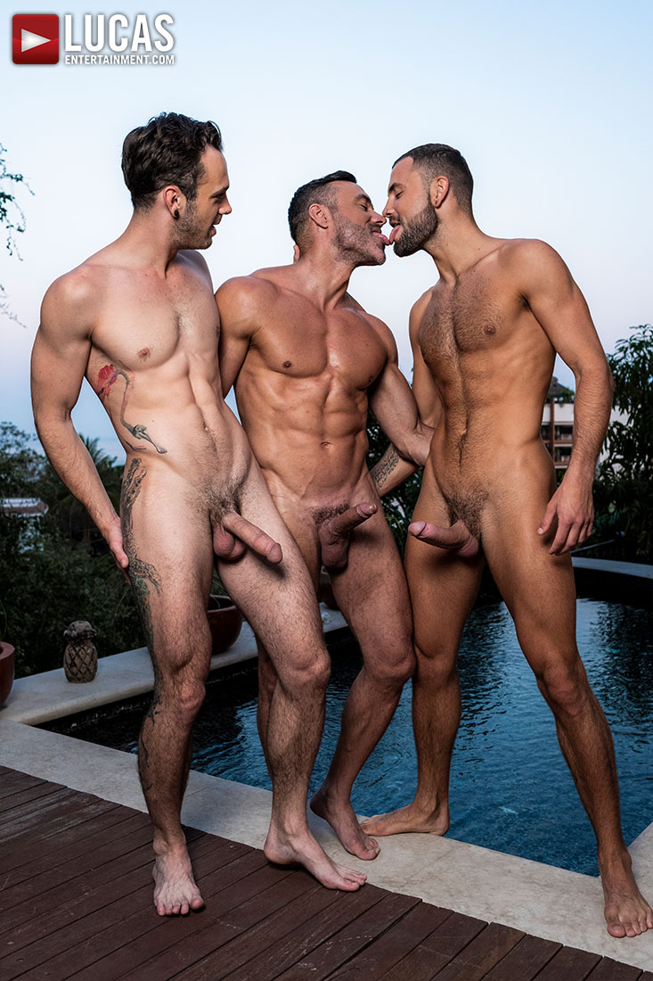 Manuel Skye, Jeffrey Lloyd, Drake Rogers | Daddy Fucking - Gay Movies - Lucas Entertainment