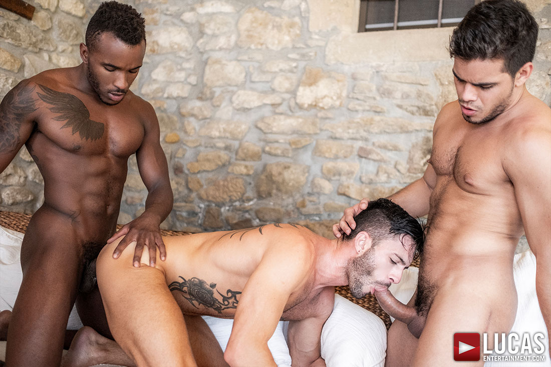 Rico Marlon, Pheonix Fellington, Andy Star | Bareback Threesome - Gay Movies - Lucas Entertainment