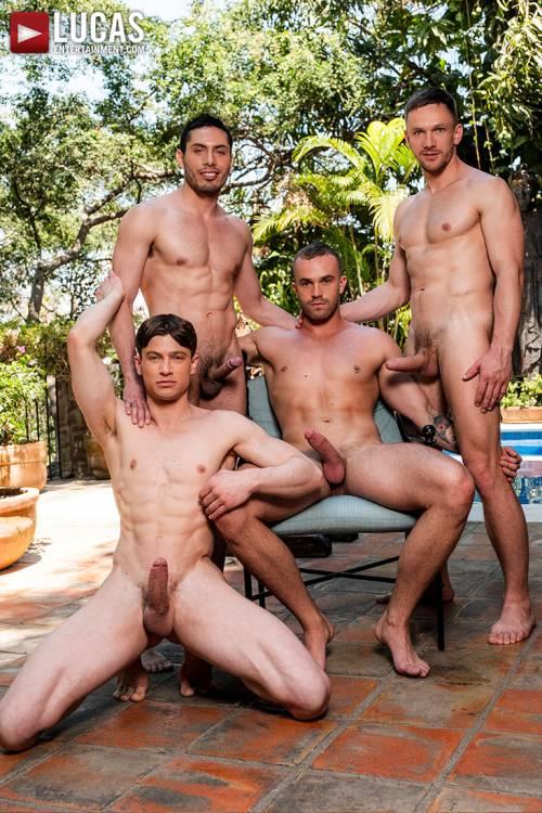 Andrey Vic, Jackson Radiz, Ruslan Angelo, Ashton Labruce | Bareback Four-Way - Gay Movies - Lucas Entertainment