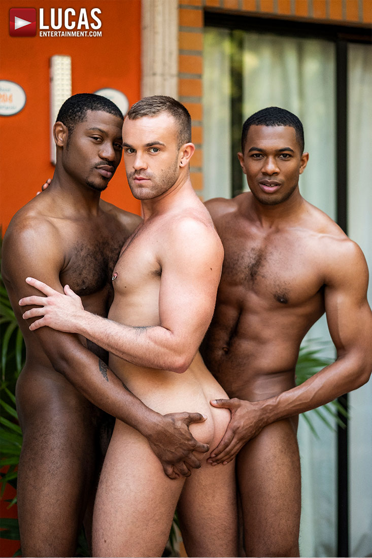 Jackson Radiz, Sean Xavier, Adonis Couverture | Double Dose Of Black Cock - Gay Movies - Lucas Entertainment