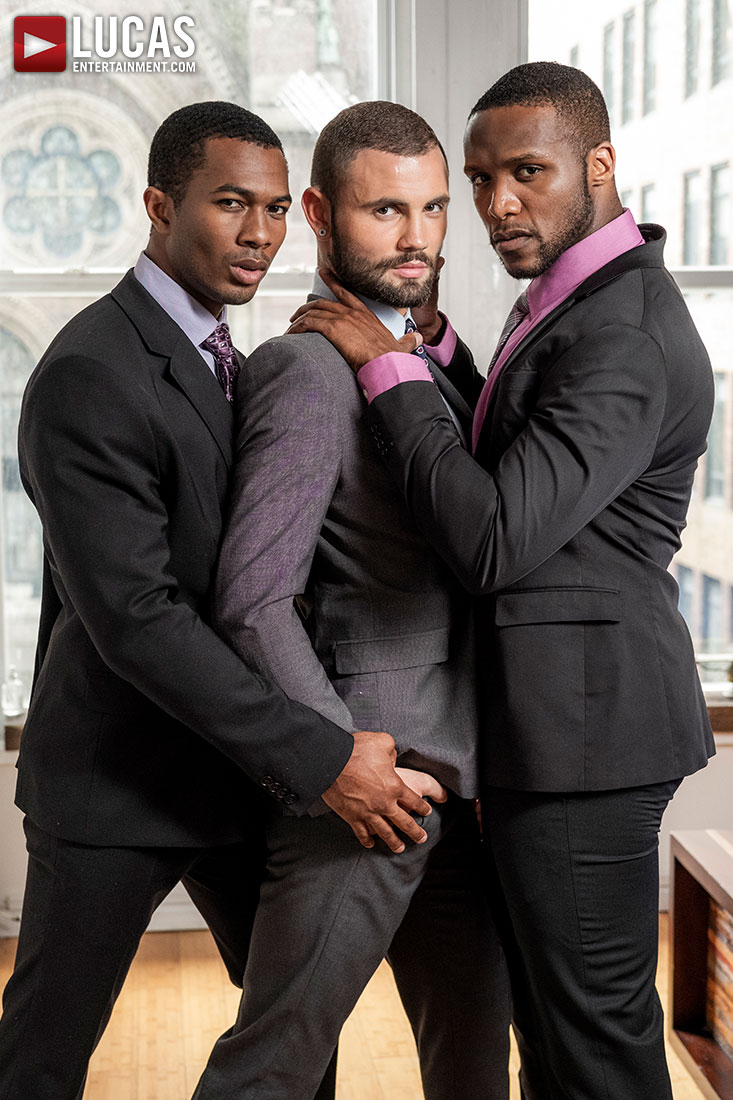 Jeffrey Lloyd, Sean Xavier, Andre Donovan | Black Business Cock - Gay Movies - Lucas Entertainment