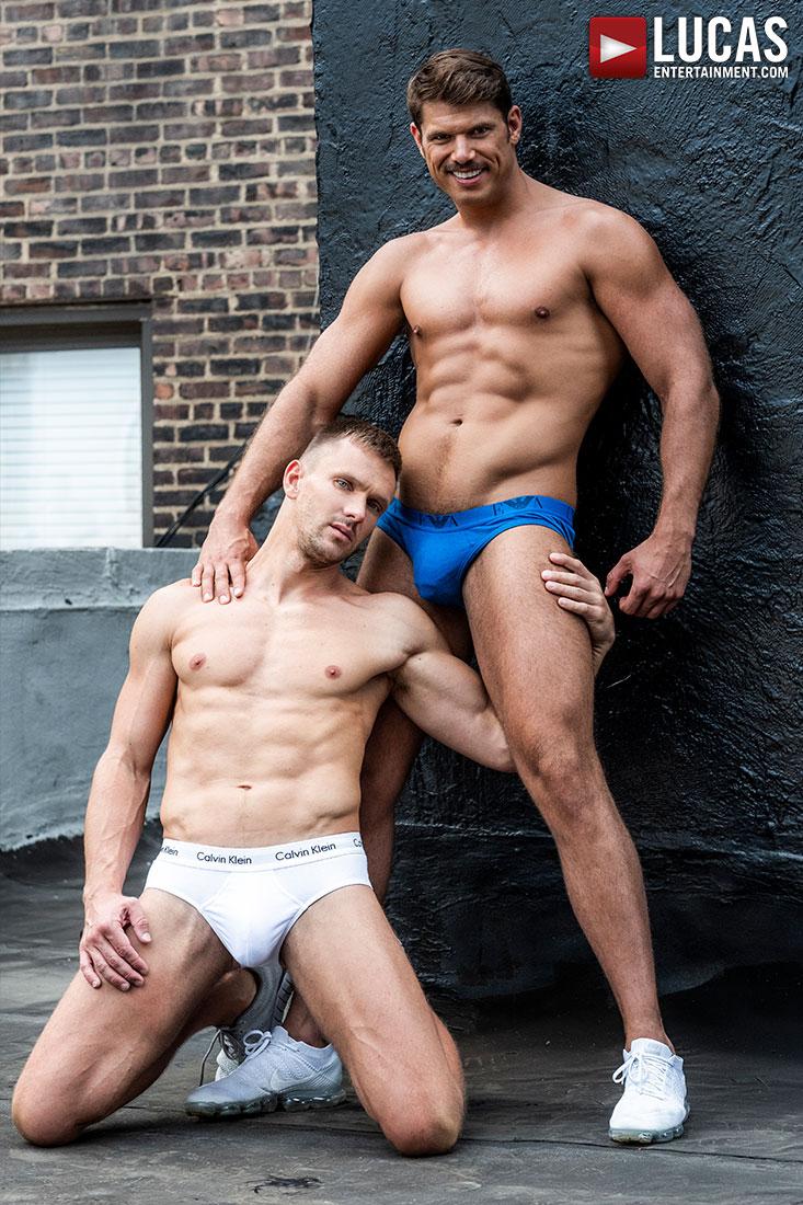 Tyler Roberts Tops Andrey Vic Bareback - Gay Movies - Lucas Entertainment