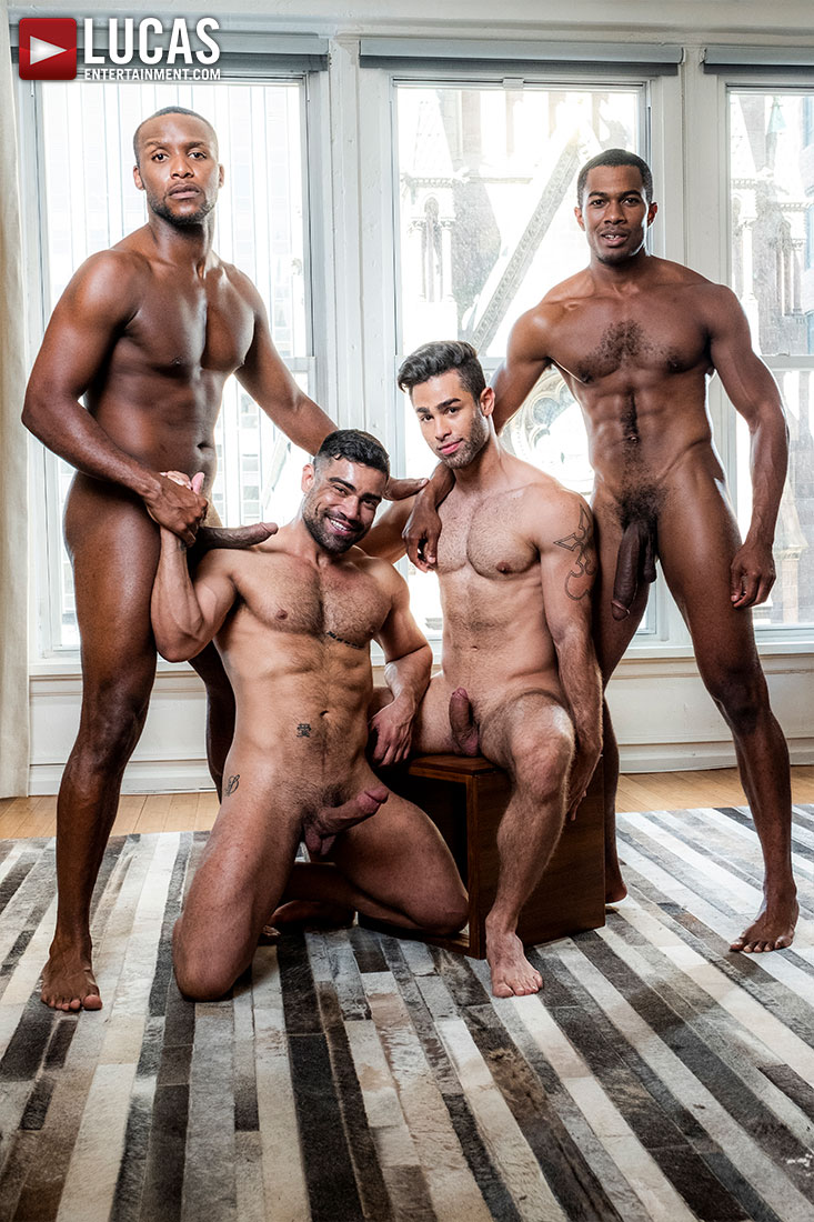 Sean, Andre, Wagner, And Lucas Swap Partners - Gay Movies - Lucas Entertainment